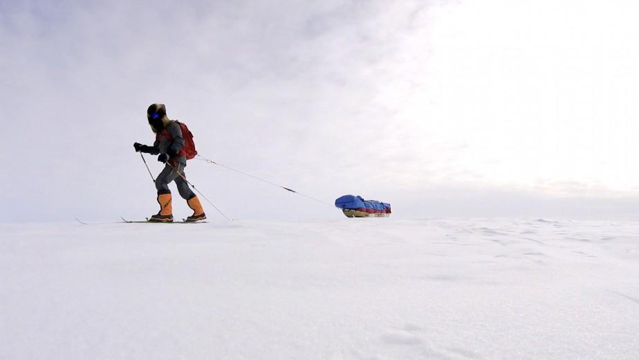 Au départ de l'expédition, le traîneau de Sébastien Lapierre pesait 225 lb. (Sébastien Lapierre - polesud2016.com)