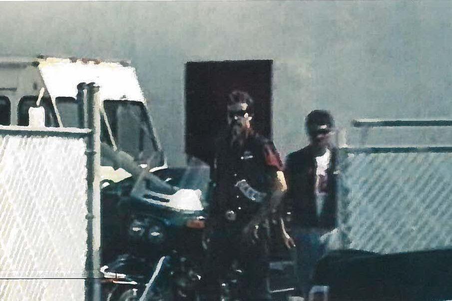 Une rare photo de Bruno Hudon portant ses... (Photo archives La Presse)