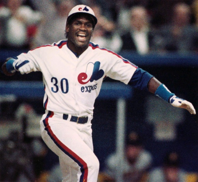 Tim Raines avec les Expos en 1989. (Photo Bill Grimshaw, archives PC)