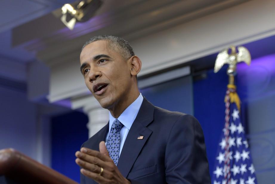 Le président américain sortant Barack Obama... (Photo Susan Walsh, AP)