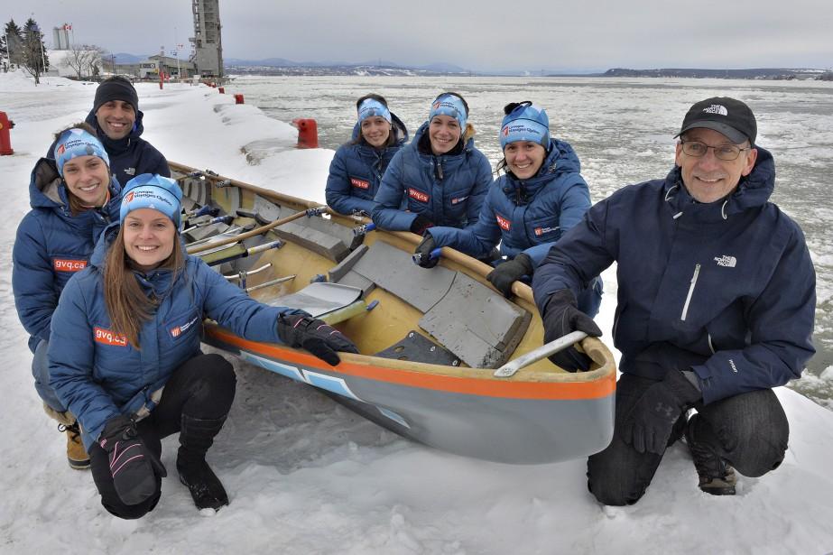 Mylène Paquette s'attaque au Saint-Laurent… en canot à glace | Olivier Bossé | Autres sports