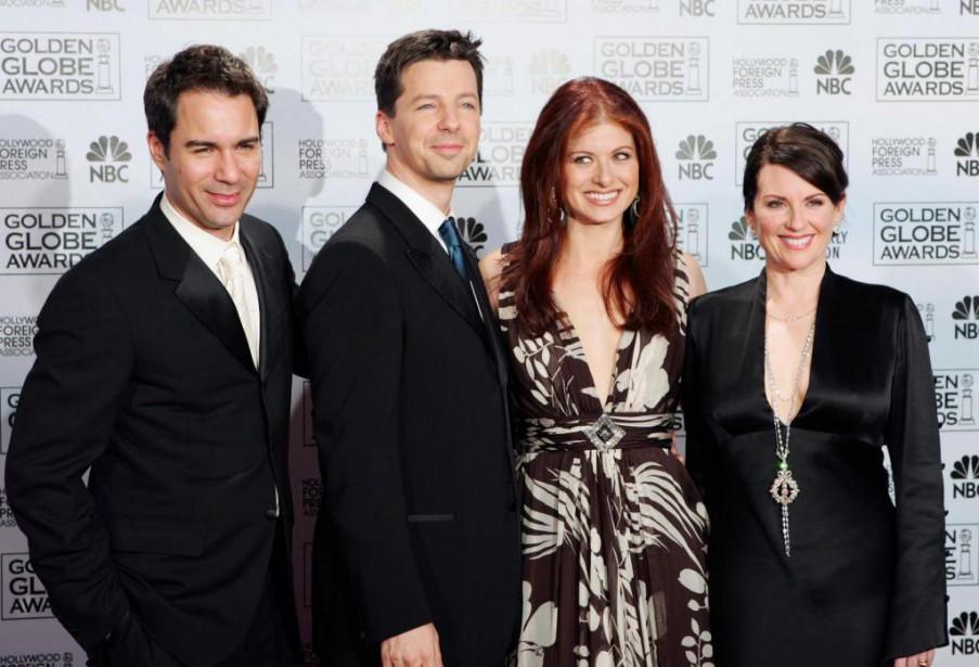Eric McCormack, Sean Hayes, Debra Messing et Megan... (PHOTO REED SAXON, ARCHIVES ASSOCIATED PRESS)