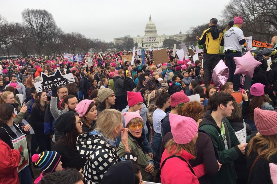 Des manifestants à Washington....