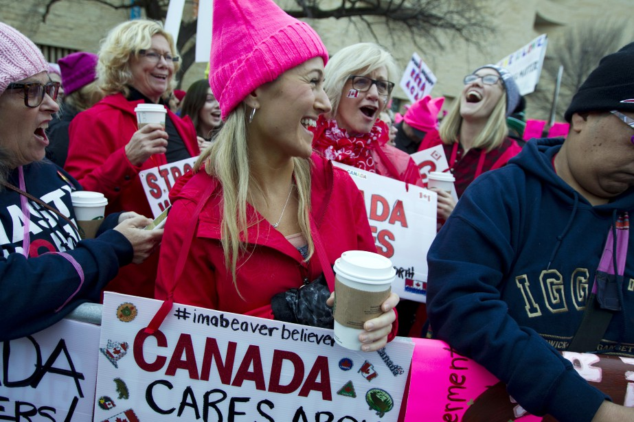 Des Canadiennes à Washington. (Photo Jose Luis Magana, AP)