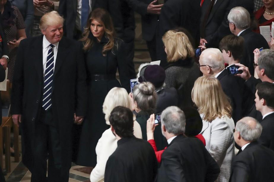 Donald Trump et sa femme Melania Trump ont... (Photo Manuel Balce Ceneta, AP)