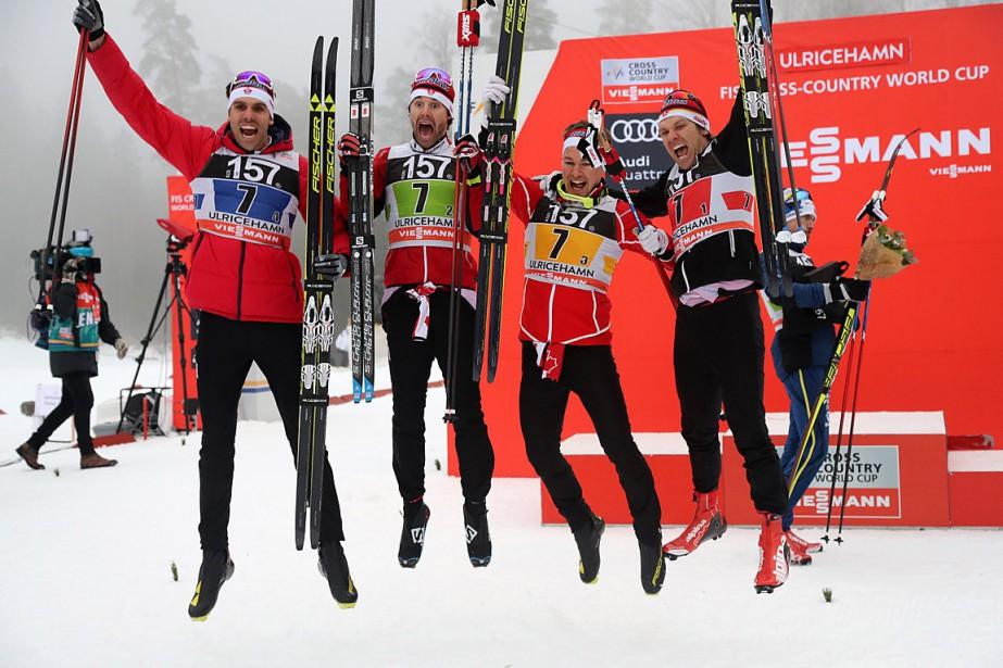 De gauche à droite: Len Valjas, Alex Harvey,... (ADAM IHSE, AP/TT NEWS AGENCY)