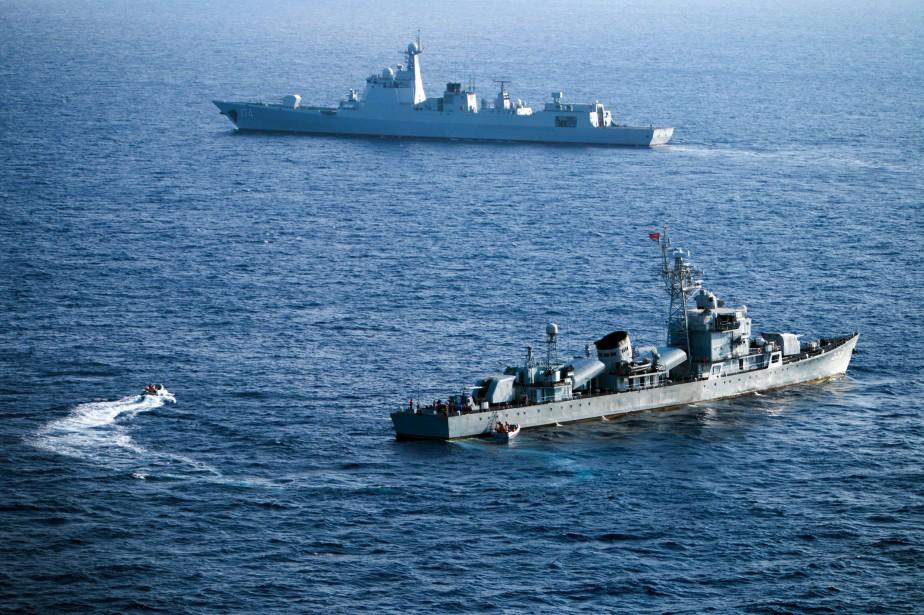Des navires de l'armée chinoise.... (Photo archives AFP)
