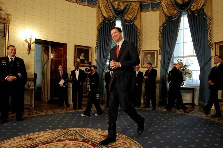 James Comey a rencontré lundi Donald Trump lors... (PHOTO REUTERS)