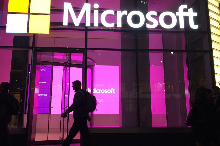 L'action de Microsoft a grimpé de plus de... (Photo Swayne B. Hall, Associated Press)