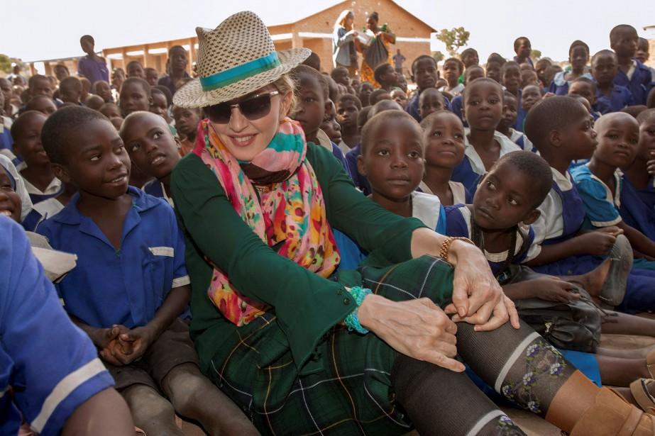 Madonna au Malawi en 2014... (archives Associated Press)