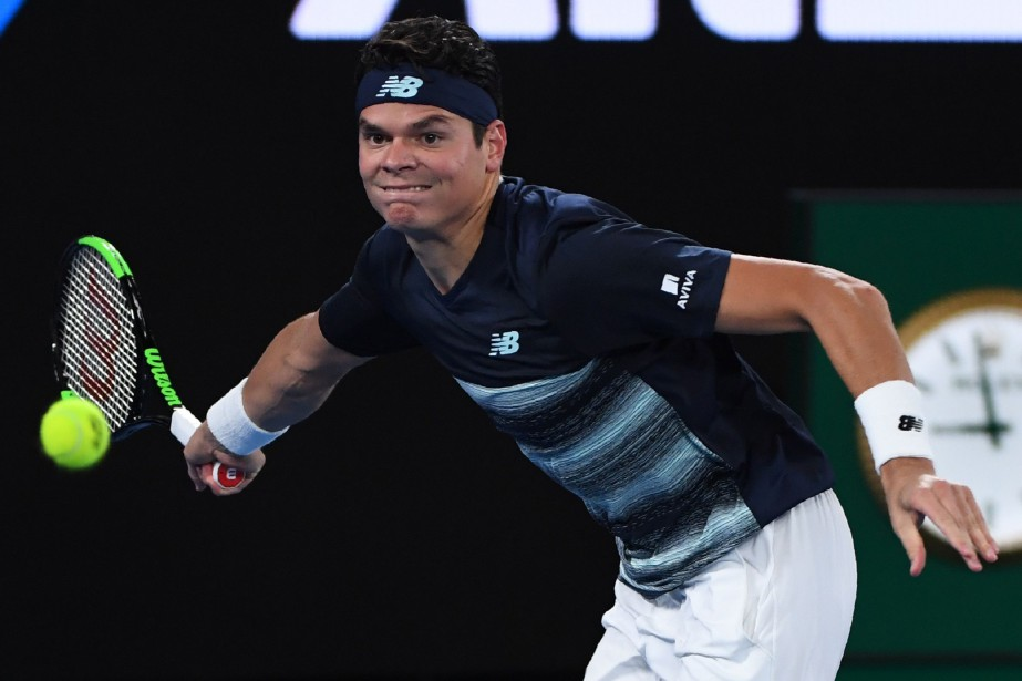 Milos Raonic a subi une blessure aux muscles abducteurs... (Photo William West, AFP)