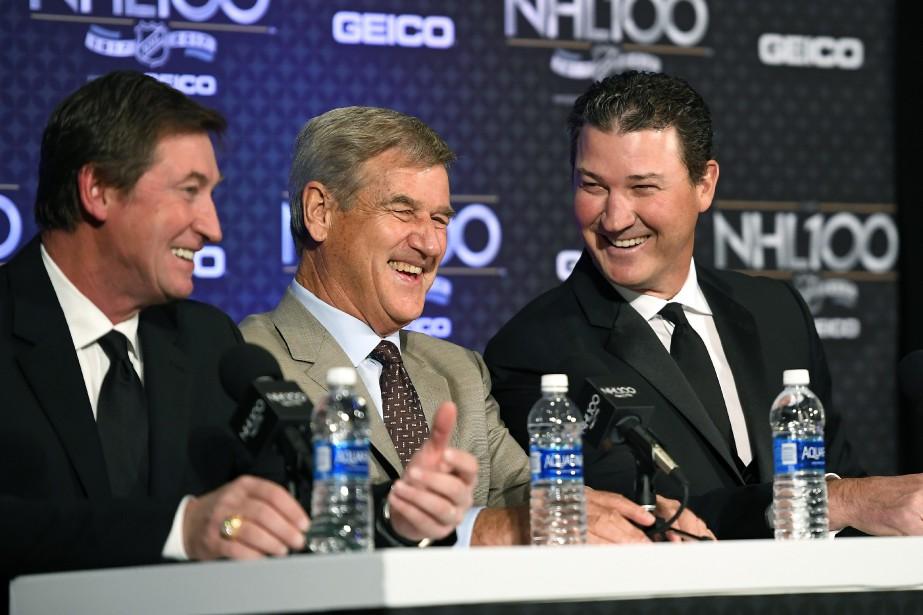 Wayne Gretzky, Bobby Orr et Mario Lemieux sont... (Photo Mark J. Terrill, Associated Press)