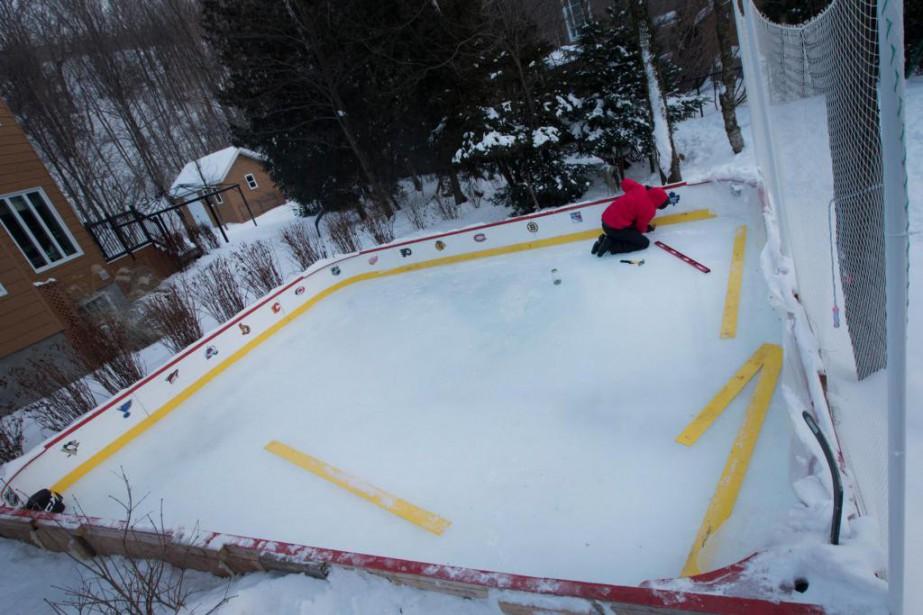 La patinoire extérieure de Pierre-Daniel Beaudry avait fait... (Photo Ivanoh Demers, Archives La Presse)