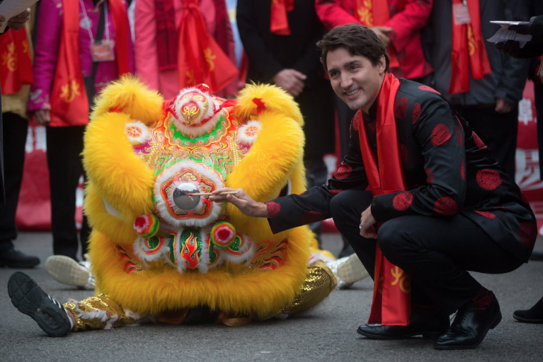 M. Trudeau a participé aux célébrations entourant le... (Photo La Presse Canadienne)