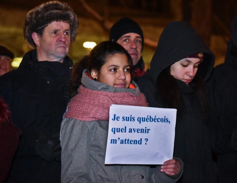 La tristesse et l'inquiétude ont plané sur les vigiles. (François Gervais, Le Nouvelliste)