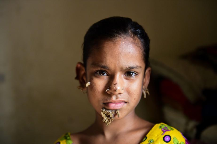 Sahana Khatun... (Photo Agence France-Presse/STR)