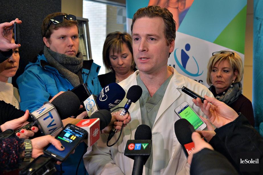 Le chirurgien et traumatologue Julien Clément a fait... (Patrice Laroche, Le Soleil)