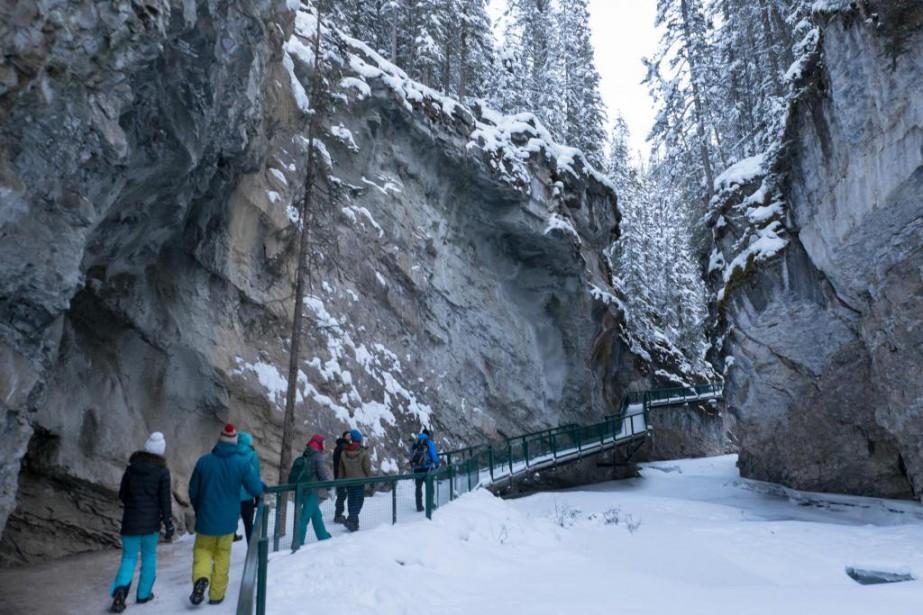 La neige est abondante dans le parc national... (Photo Yannick Fleury, La Presse)