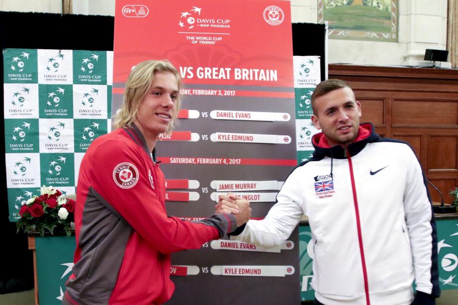 Le premier duel sera entre Denis Shapovalov et Dan Evans. | 2 février 2017
