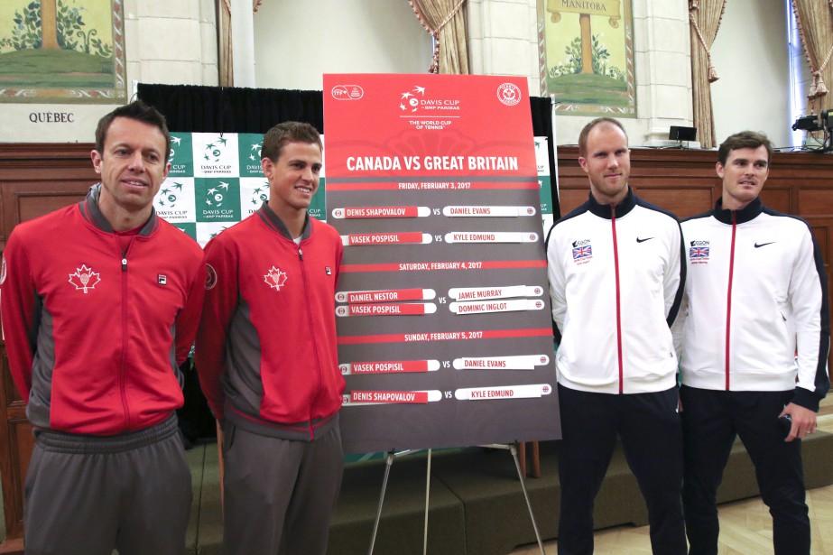 Le match de double de samedi opposera Daniel Nestor et Vasek Pospisil contre Dominic Inglot et Jamie Murray. | 2 février 2017