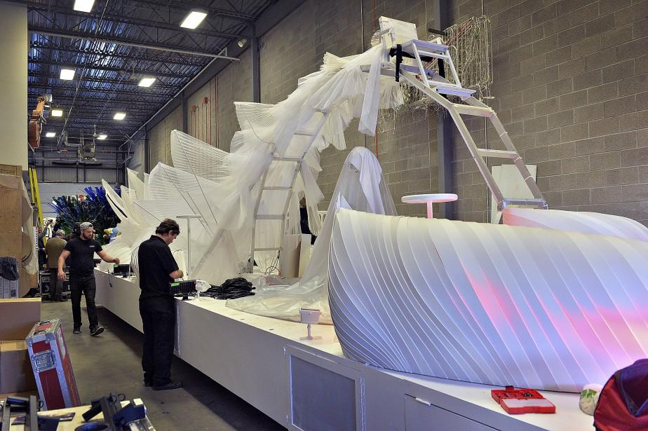 Le char immaculé du «tableau des vents», sur lequel prendront place les duchesses. (Le Soleil, Patrice Laroche)