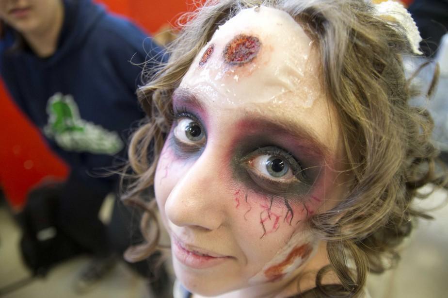 Les maquillages étaient très impressionnants. (Sylvain Mayer, Le Nouvelliste)