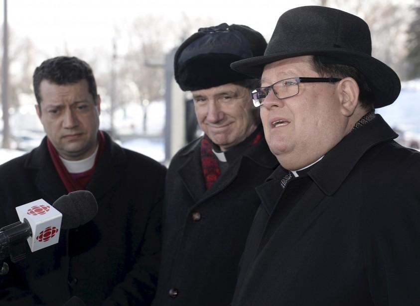 À droite, le cardinal Gérald Cyprien Lacroix | 3 février 2017