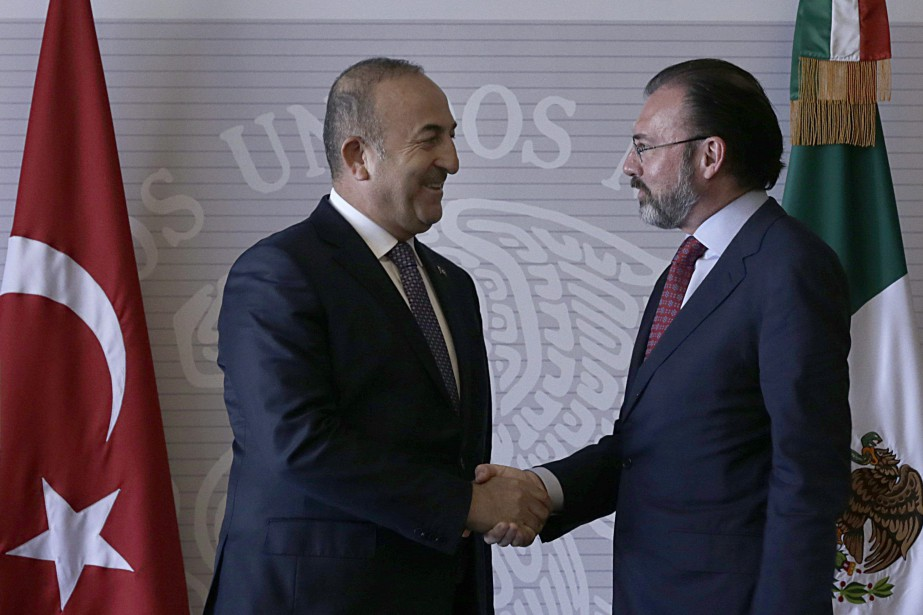 Le ministre mexicain des Affaires étrangères Luis Videgaray... (Photo Marco Ugarte, Associated Press)