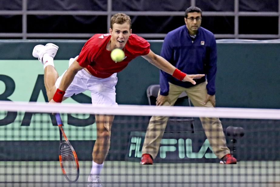 Vasek Pospisil a gagné son match en quatre sets. | 5 février 2017