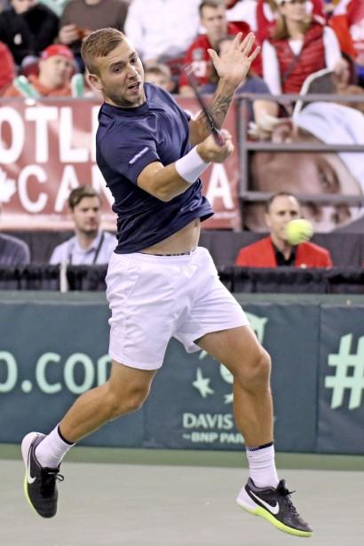 Daniel Evans a gagné le troisième set. | 5 février 2017