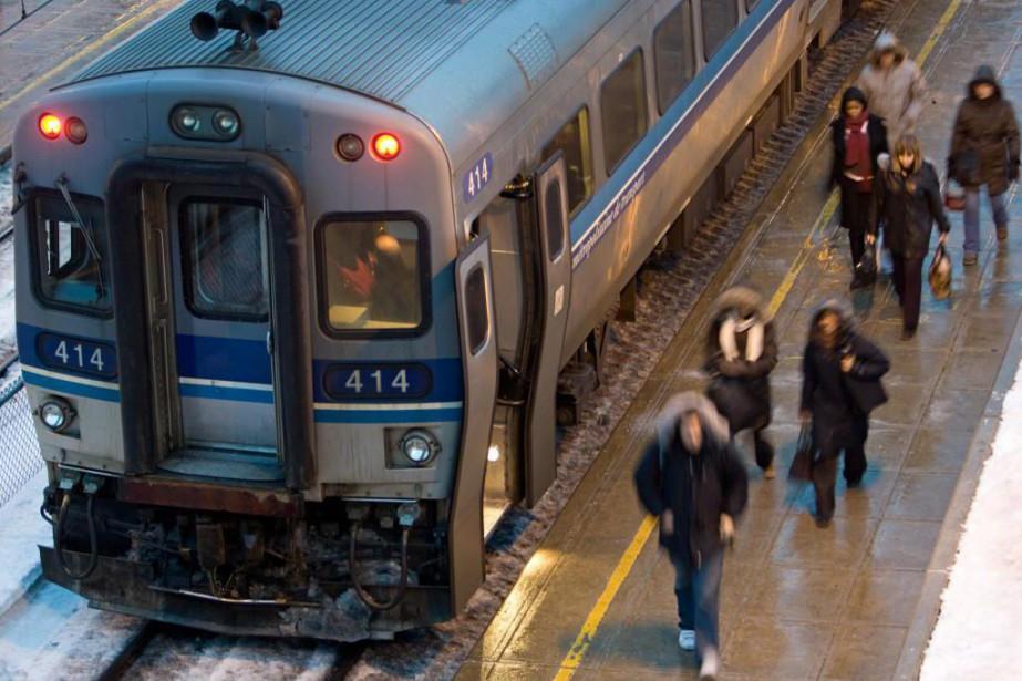 Le train de Deux-Montagnes a enregistré un total... (Photo David Boily, Archives La Presse)