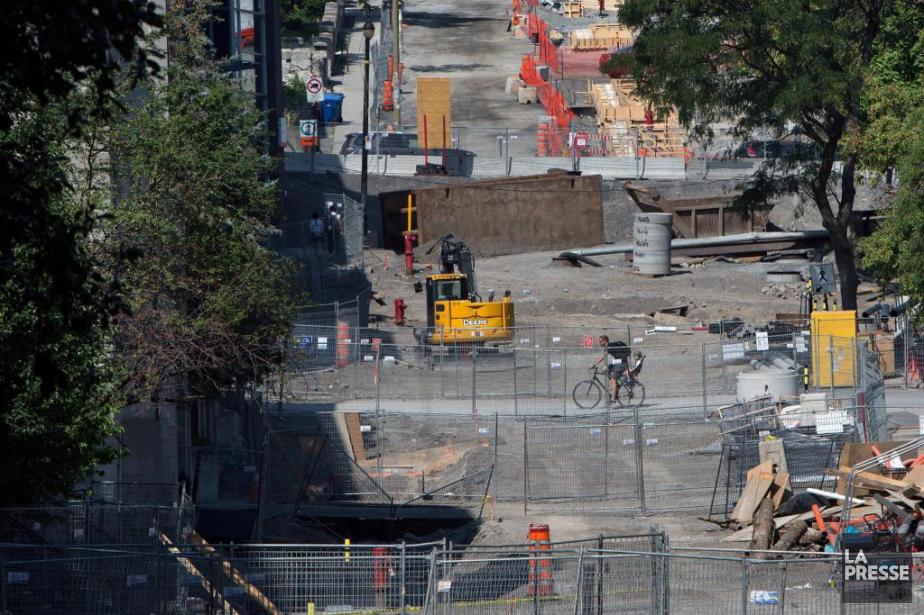 Des travaux routiers et d'infrastructures sur la rue... (Photo Robert Skinner, Archives La Presse)