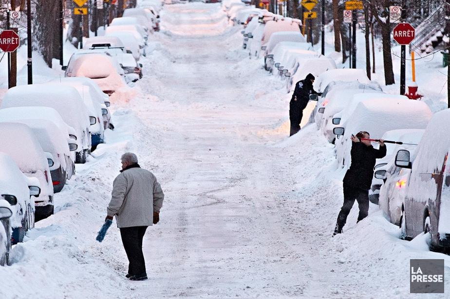 Une vingtaine de centimètres de neige sont tombés... (Patrick Sanfaçon, La Presse)