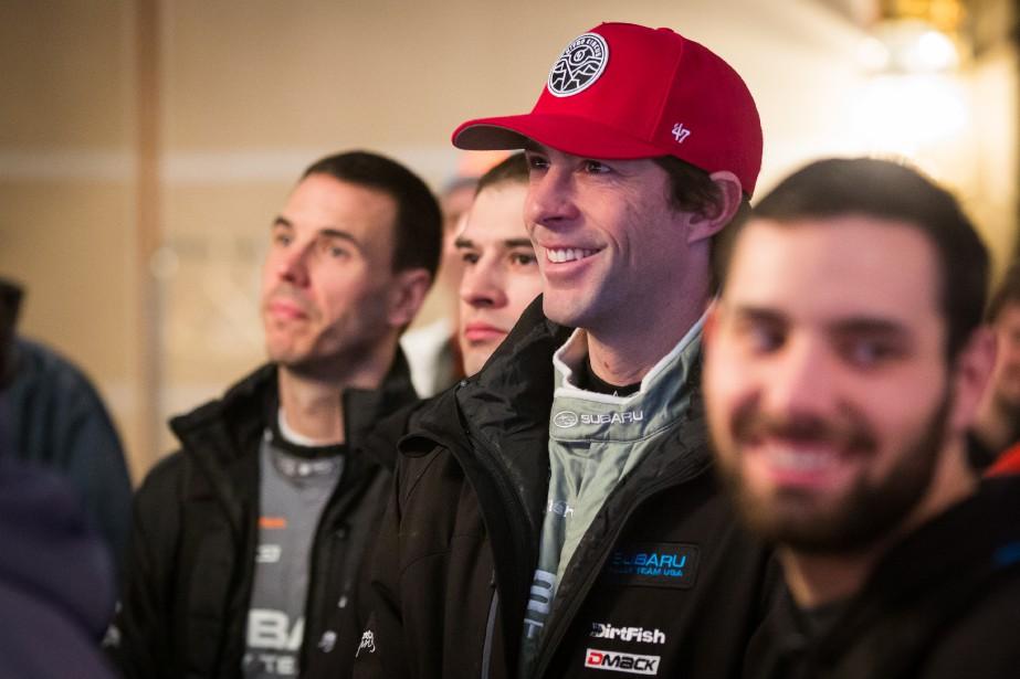 L'Américain Travis Pastrana (au centre) était la tête d'affiche du rallye Perce-Neige le 4 février. L'icône du motocross et des X-Games a terminé deuxième à Maniwaki. Son enthousiasme est contagieux et se répercute sur les courageux spectateurs qui bravent le froid pour assister à la course. | 13 février 2017