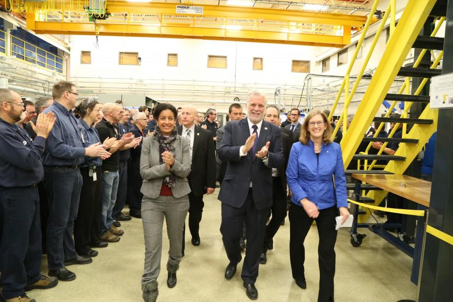 GE Aviation a annoncé des projets totalisant 238 millions de dollars dans ses installations de Bromont à l'occasion d'une visite du premier ministre Philippe Couillard. | 13 février 2017