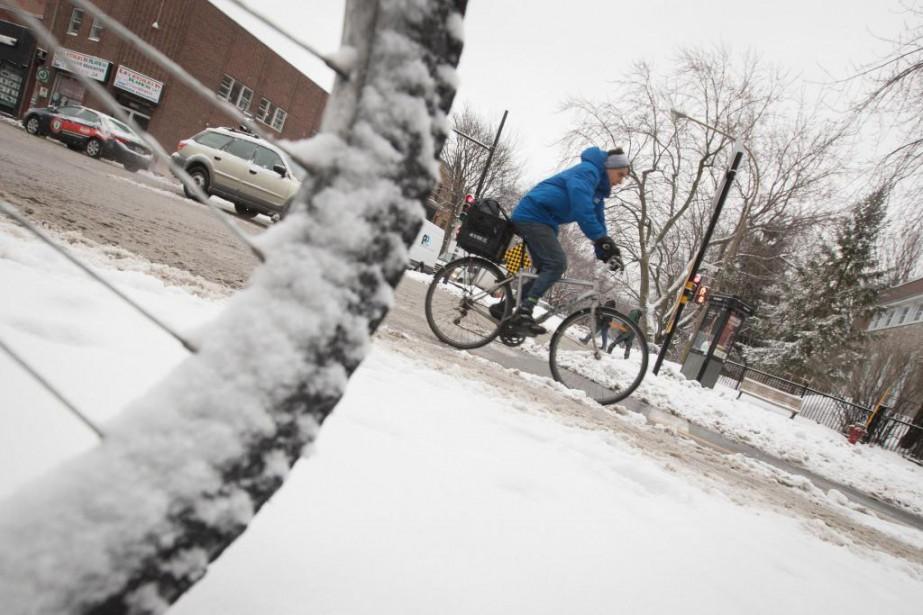 Le vélo d'hiver n'est plus seulement l'affaire d'une... (photoIVANOH DEMERS, LA PRESSE)