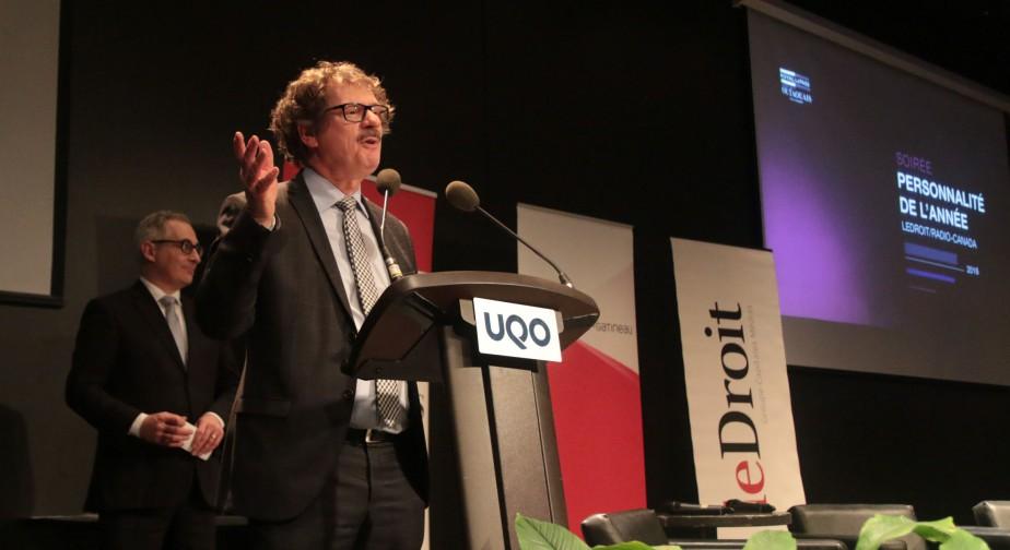 Pierre-Paul Noreau, président et éditeur du quotidien  Le Droit  | 15 février 2017