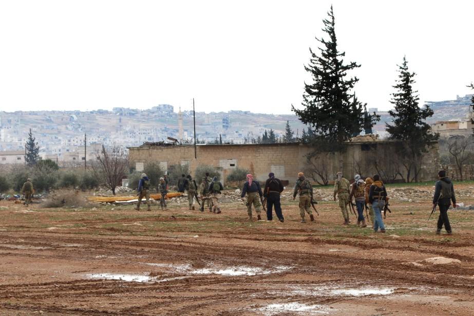 Des rebelles syriens soutenus par Ankara.... (PHOTO RAFAT AHMAD, Agence France-Presse)