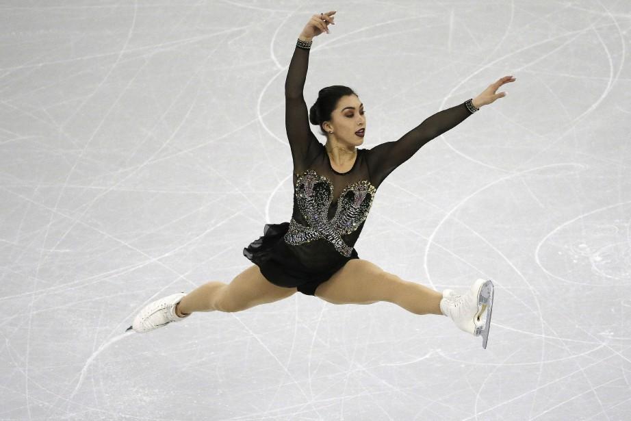 La patineuse canadienne Gabrielle Daleman... (Photo Ahn Young-joon, AP)
