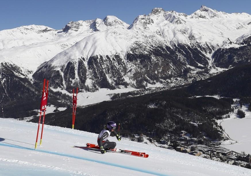 La skieuse française Tessa Worley lors de son épreuve de slalom, aux Championnats mondiaux de ski alpin de St-Mortiz, en Suisse. | 16 février 2017