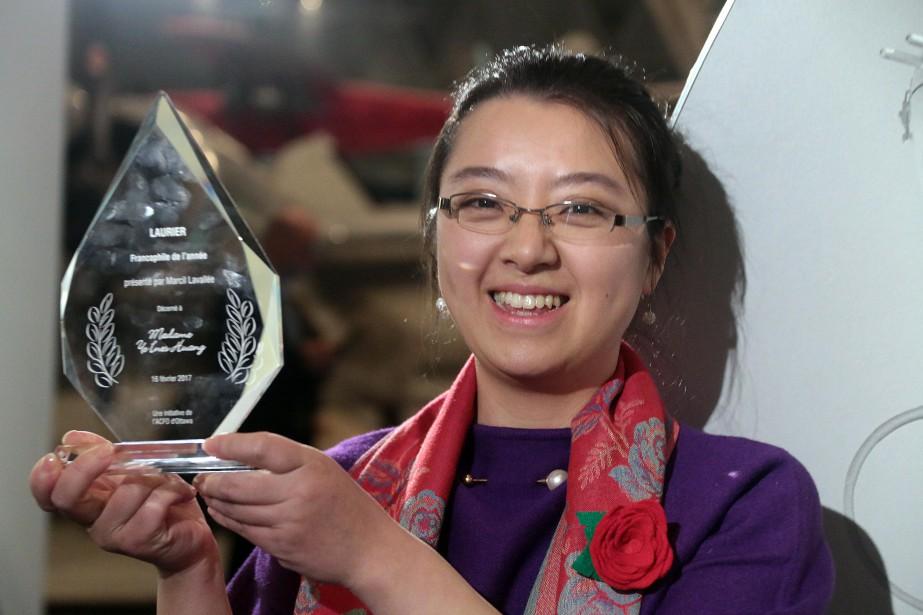 Le titre de Francophile de l'année a été attribué à Ye Ines Huang. (Étienne Ranger, LeDroit)