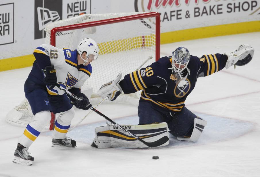 Ryan O'Reilly a réussi le but... (Photo Jeffrey T. Barnes, ASSOCIATED PRESS)
