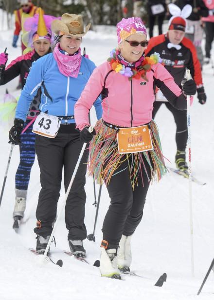 Les participants affichaient de grands sourires aux lèvres lors des Défis nordiques. | 19 février 2017