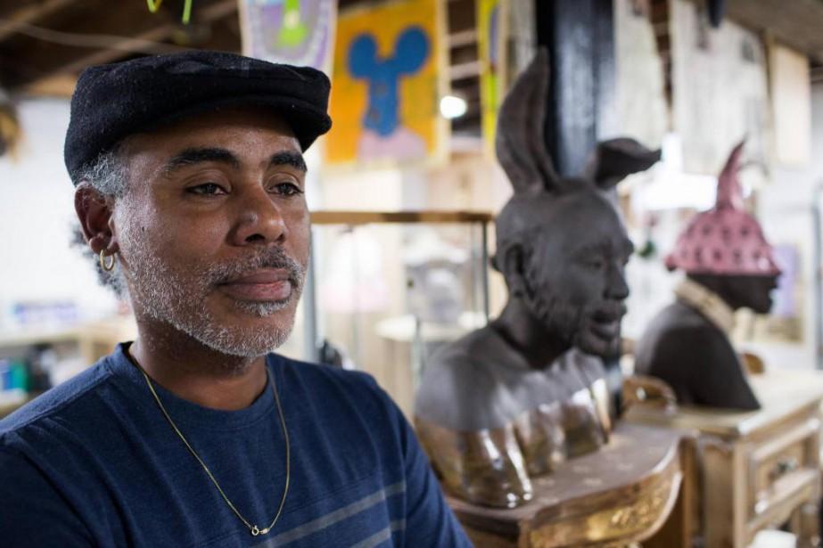 Artiste caribéen installé à Montréal, Eddy Firmindit Ano... (Photo Olivier Pontbriand, La Presse)