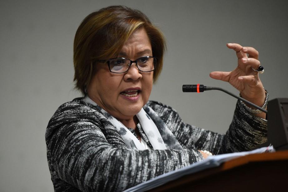 La sénatrice Leila de Lima.... (Photo Ted Aljibe, Agence France-Presse)