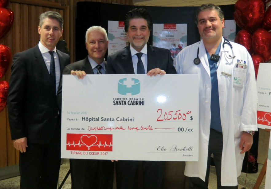 Luciano Esposto, Yvan Gendron, Elio Arcobelli et le... (Photo fournie par la Fondation Santa Cabrini.)