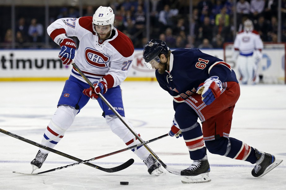 Alex Galchenyuk et Rick Nash... (Photo Adam Hunger, USA TODAY Sports)