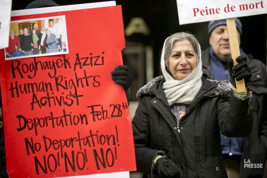 L'Iranienne Roghayeh Azizi Mirmahaleh s'est vu refuser sonstatut... (PHOTO DAVID BOILY, LA PRESSE)