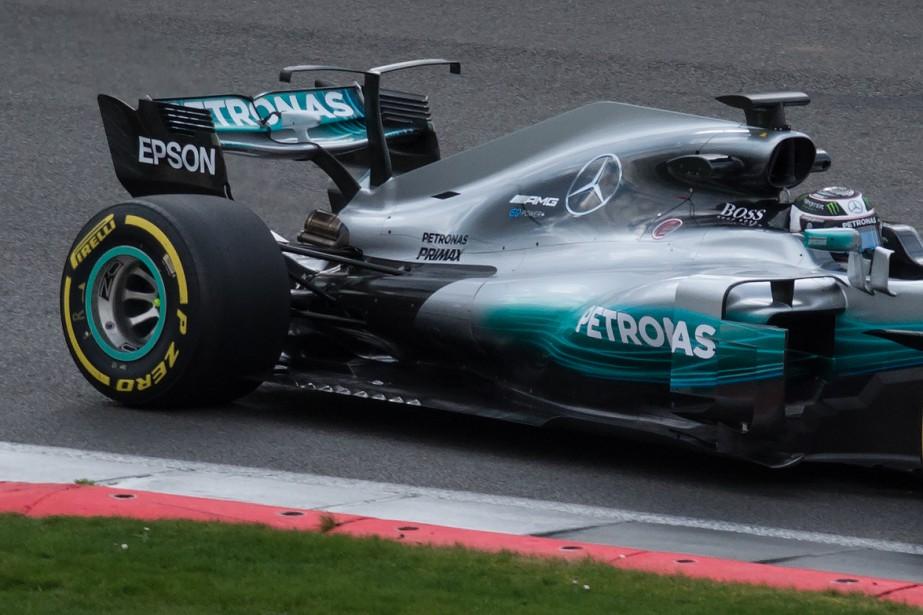 Valtteri Bottas au volant de la W08 EQ Power+. (AFP)