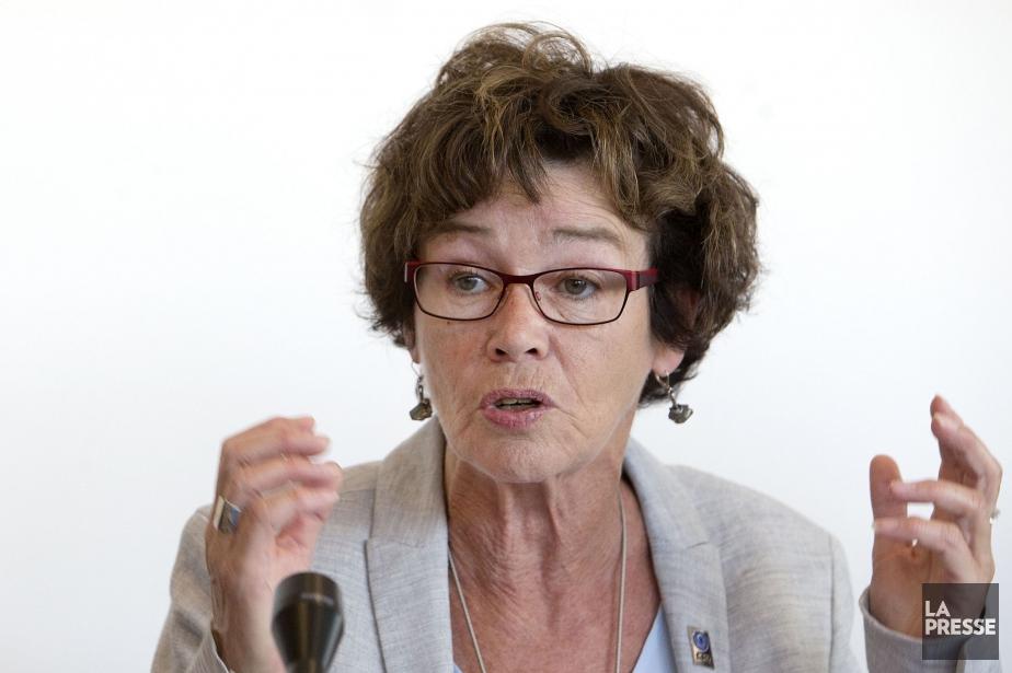 La présidente de la CSQ, Louise Chabot.... (Photo Archives La Presse)